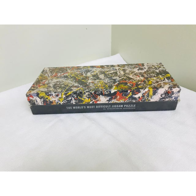 Paper 1980s Vintage Springbok Abstract Art Jackson Pollock Puzzle For Sale - Image 7 of 7