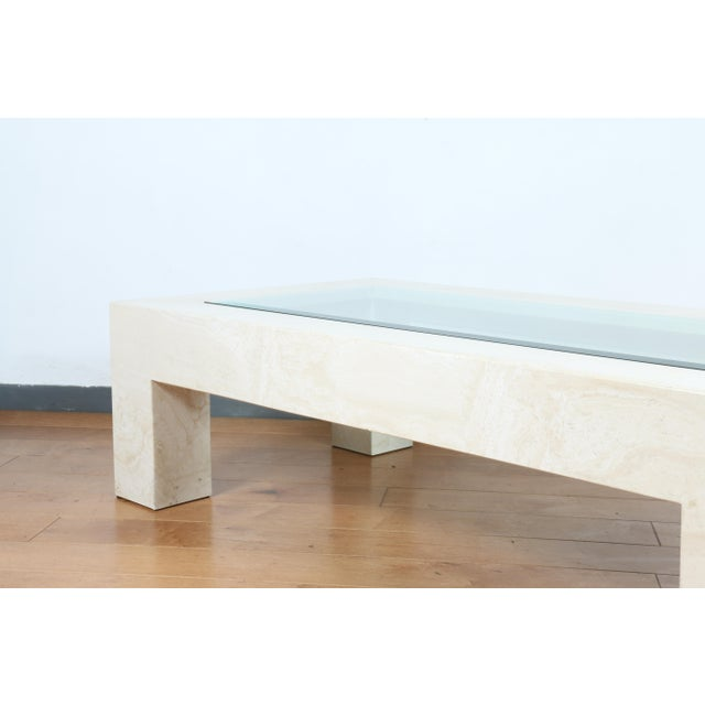 1970s Mid Century Travertine Coffee Table For Sale - Image 5 of 8