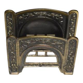 1960s Boho Chic K&o Co Brass/Bronze Oriental/Asian Bridge Shaped Desk Letter Holder
