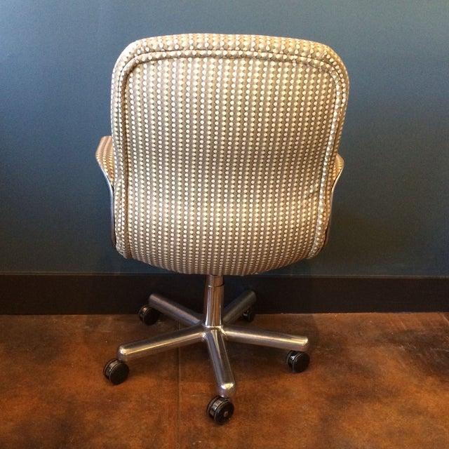 Mid-Century Aluminum Swivel Office Chair - Image 5 of 9