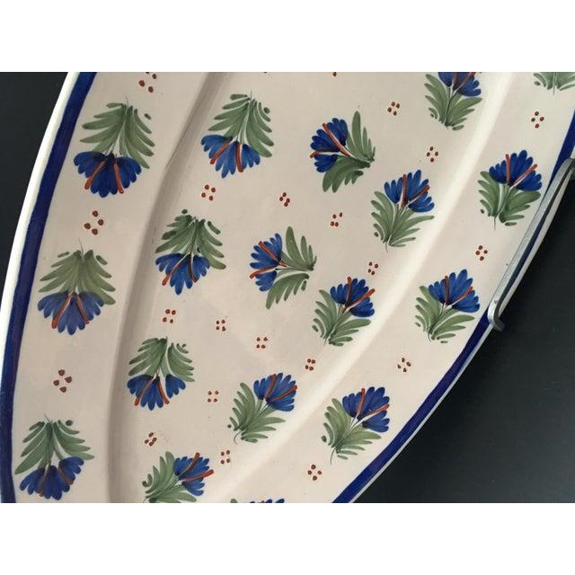 Henriot Quimper Antique French Provincial Henriot Quimper Faience Platter For Sale - Image 4 of 7