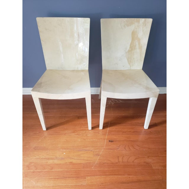 1980s Vintage Karl Springer Jmf Chairs- A Pair For Sale - Image 13 of 13