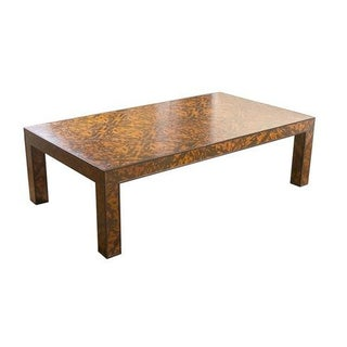 E.J. Victor Tortoise Shell Coffee Table For Sale