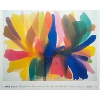 1989 Morris Louis XL Hirschhorn Museum Exhibition Litho Print Framed Rare For Sale