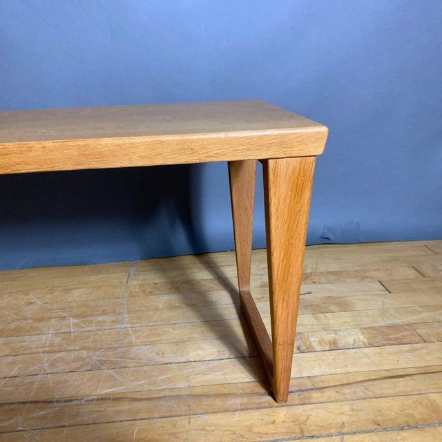 Mid-Century Modern Oak Hall Table by Kai Kristiansen for Aksel Kjersgaard, Denmark 1960s For Sale - Image 3 of 10