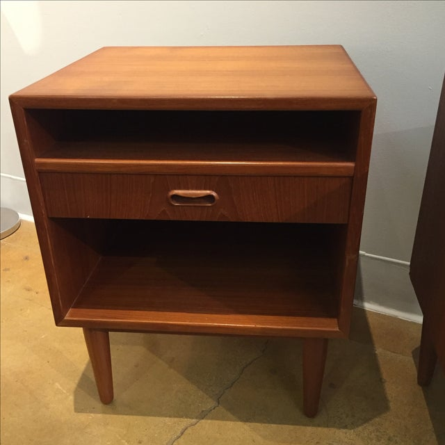 Danish Modern Teak Nightstands - Pair - Image 4 of 6