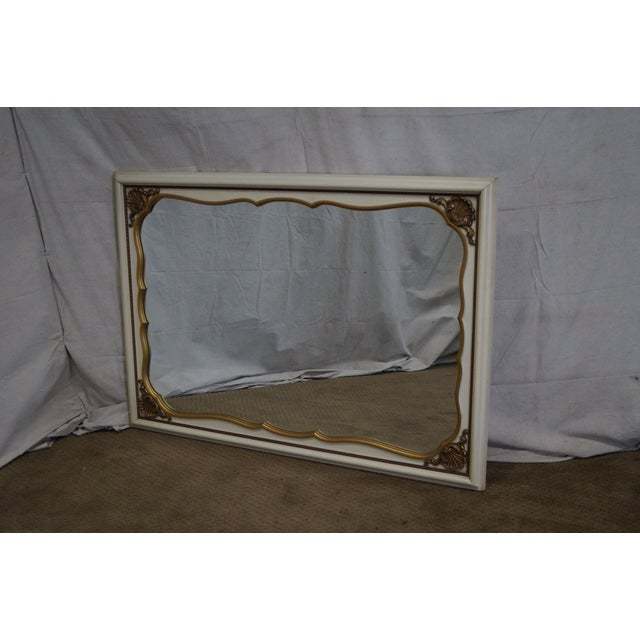 Store Item #: 15053-ax Vintage Painted Gold Accent Shell Carved Louis XV Style Wall Mirror AGE/COUNTRY OF ORIGIN: Approx...