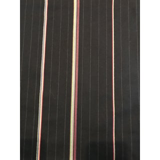 Paul Smith Bespoke Stripe Navy Wool Fabric For Sale