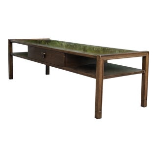 1950s Mid Century Modern Edward Wormley for Dunbar Walnut Coffee Table For Sale