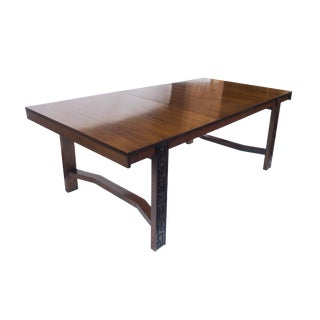 Mid Century Brutalist Tiki Dining Table by United Furniture For Sale