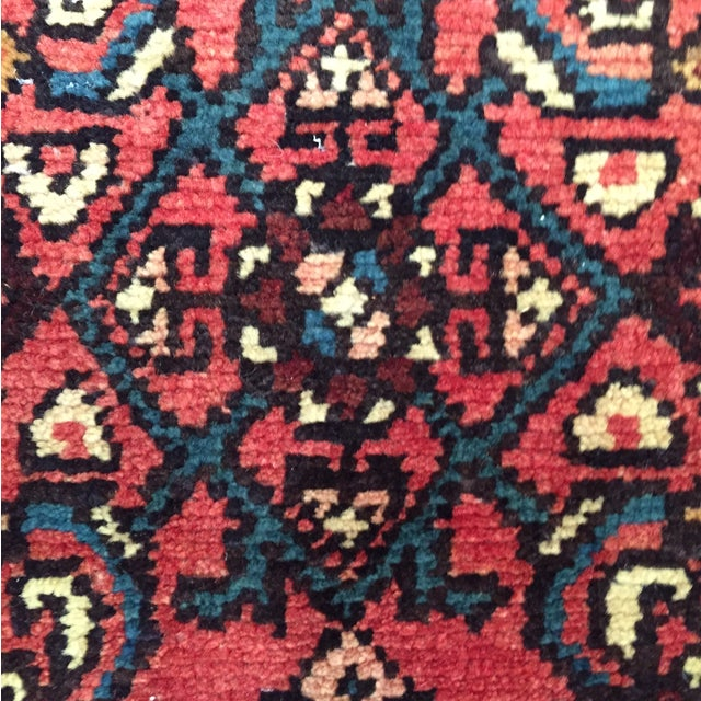 "Hamadan Hand Made Persian Rug - 2'5"" x 3'2"" - Image 6 of 9"