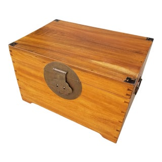 Early 20th Century Camphor Wood Asian Trunk For Sale