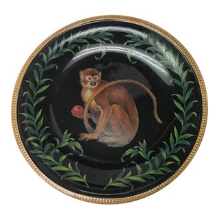 Round Ceramic Black Monkey Decorative Plate