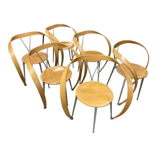 Set of 6 Arm-Chairs Designed by Andrea Branzi for Cassina For Sale