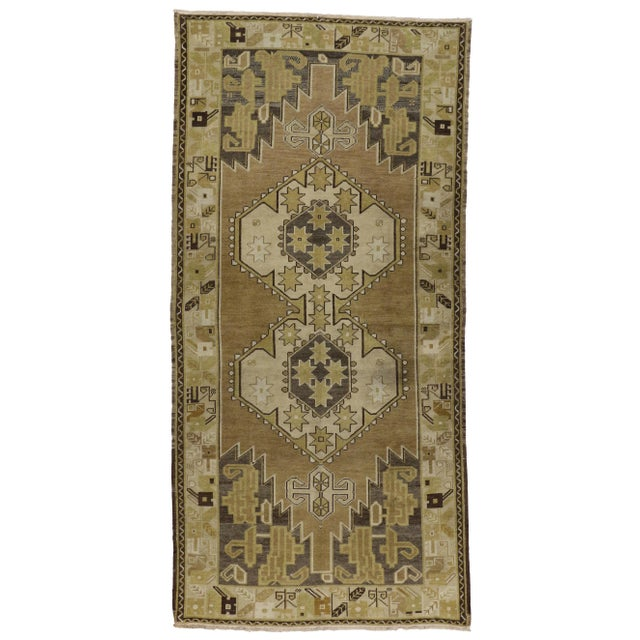 Vintage Turkish Oushak Runner Rug - 4′ × 8′1″ - Image 5 of 6