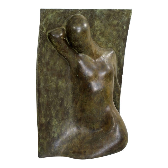 Bronze Relief Sculpture Titled the Panel by Caroline Stacey For Sale