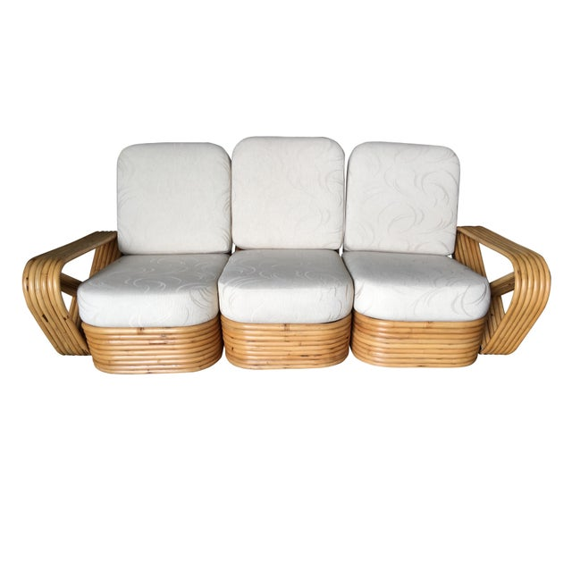 Art Deco Restored Paul Frankl Six-Strand Sectional Sofa Living-Room Set W/ Side Tables For Sale - Image 3 of 11