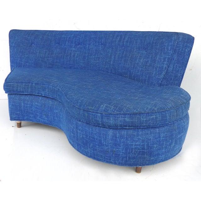 Mid-Century Modern Serpentine Sofa, circa 1950 - Image 9 of 11