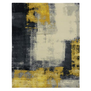 Modern Style Contemporary Abstract Color Block Design Rug - 8' x 10' For Sale