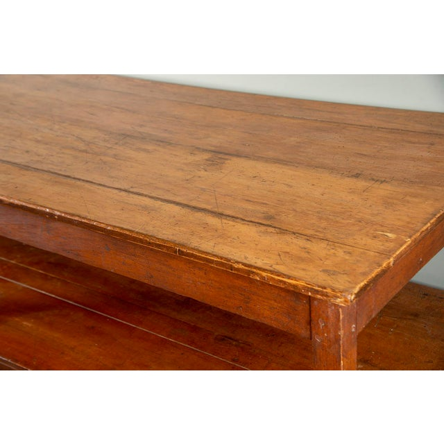 Large 19th Century French Pine Drapers Table With Original Finish For Sale - Image 12 of 13