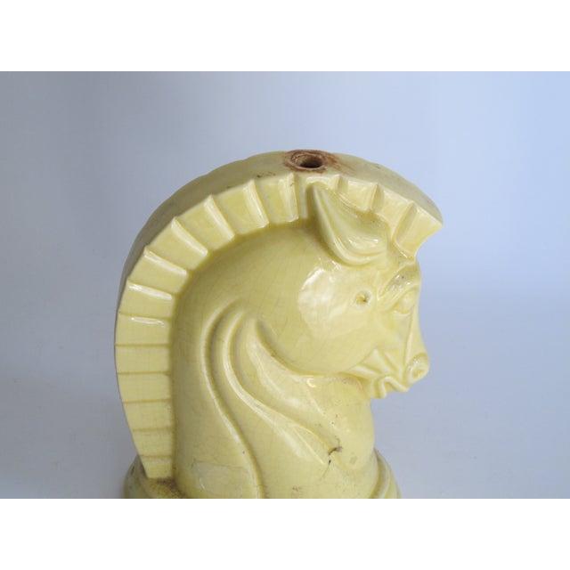 Yellow Art Deco Ceramic Horse Head - Image 8 of 8
