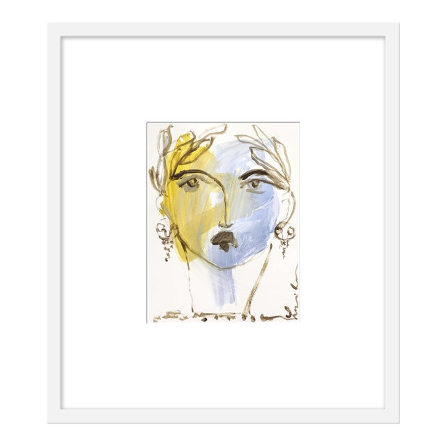 "Medium ""Roman Face Ii"" Print by Leslie Weaver, 21"" X 24"" For Sale"