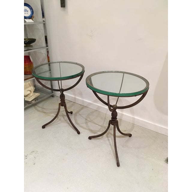 Boho Chic 20th Century Shabby Chic Iron Accent Tables - a Pair For Sale - Image 3 of 10