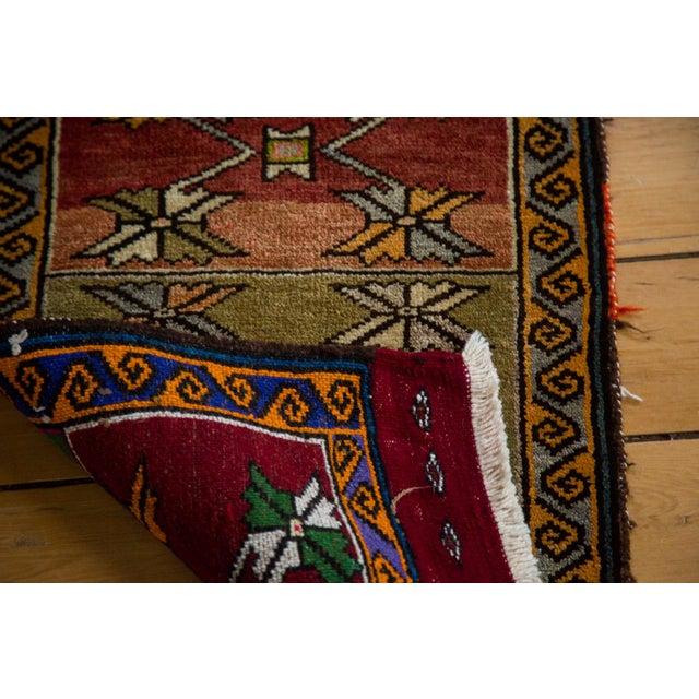 """Vintage Oushak Rug Mat - 1'7"""" x 2'7"""" For Sale - Image 5 of 5"""