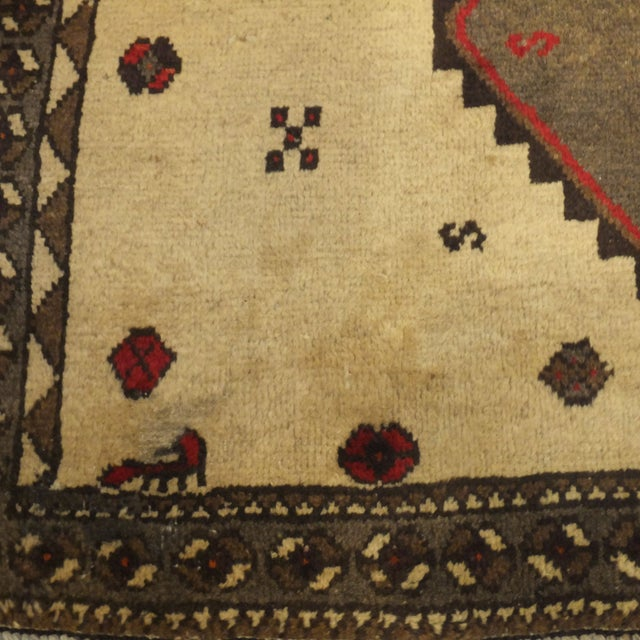 """Persian Gabeh Tribal Rug - 7'5"""" x 5'7"""" For Sale - Image 5 of 5"""