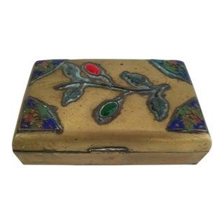 Chinese Brass Stones Box