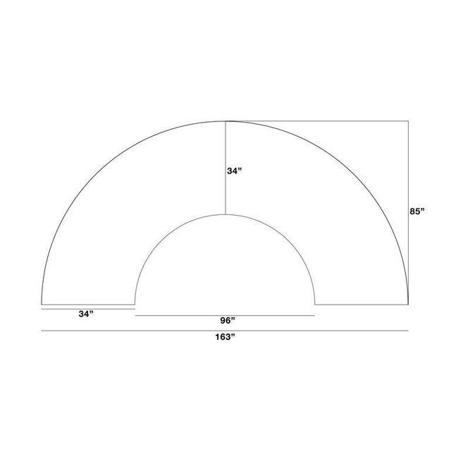 Milo Baughman Semi-Circle Sectional Sofa For Sale - Image 10 of 10