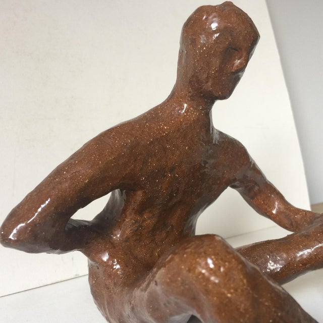 Mid-Century Abstract Terra Cotta Figure For Sale - Image 5 of 8