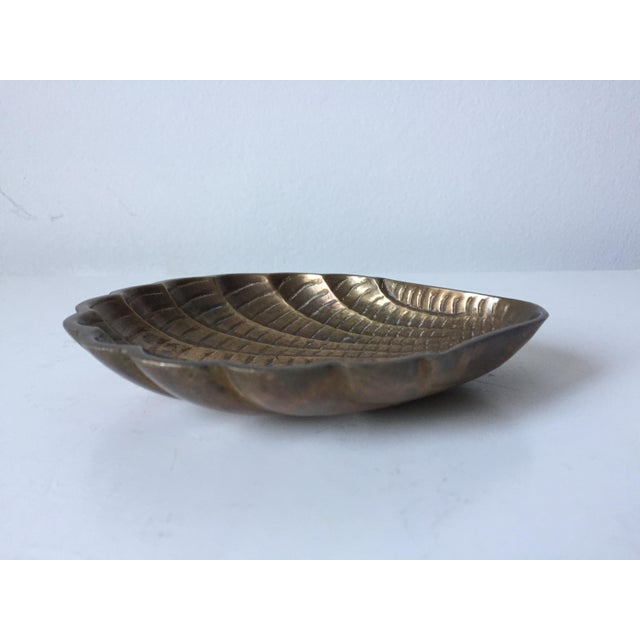 Vintage Brass Shell Dish - Image 2 of 6