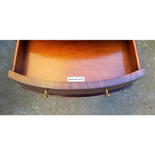 Maitland-Smith Mahogany & Sienna Leather Side Table For Sale - Image 9 of 13