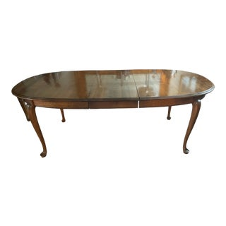 Ethan Allen Solid Maple Oval Dining Room Table For Sale