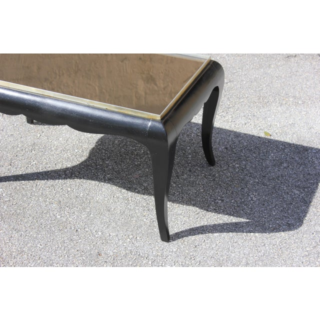 1940s French Art Deco Ebonized Coffee Table For Sale - Image 4 of 13