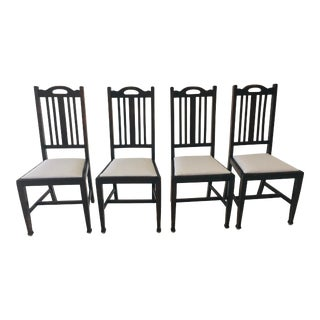 Early 20th Century Mission Style Dining Chairs- Set of 4 For Sale
