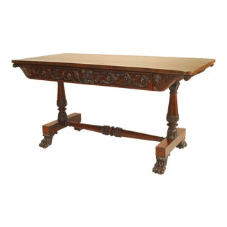 English William IV Rosewood Davenport Table For Sale