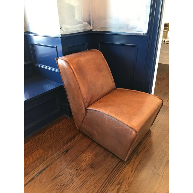 Restoration Hardware RH Leather Chair. Great accent piece, we used in our gym but redecorating. Can use in entry way, kids...