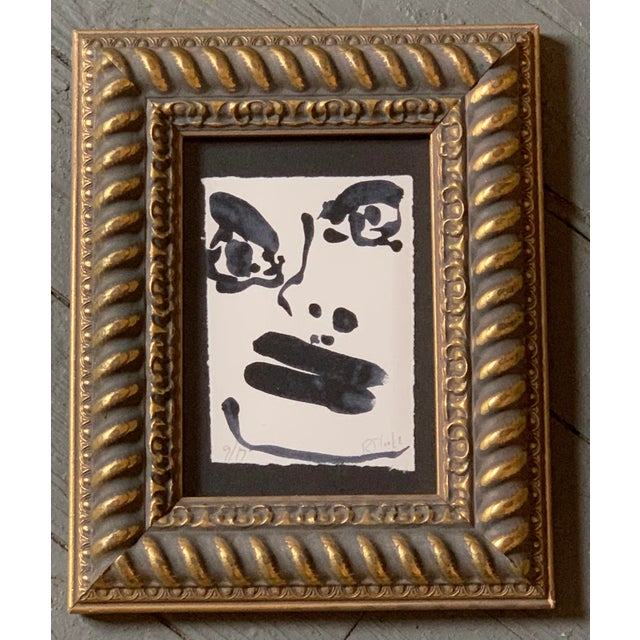Original Contemporary Robert Cooke Small Abstract Face Painting For Sale - Image 4 of 4