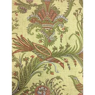 Thibaut Hunterdon Botanical Bird Motif Yellow Multi-Purpose Cotton Fabric - 2.5 Yards For Sale