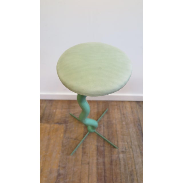 Green Bar Stools by Patrice Goujon For Sale - Image 8 of 13