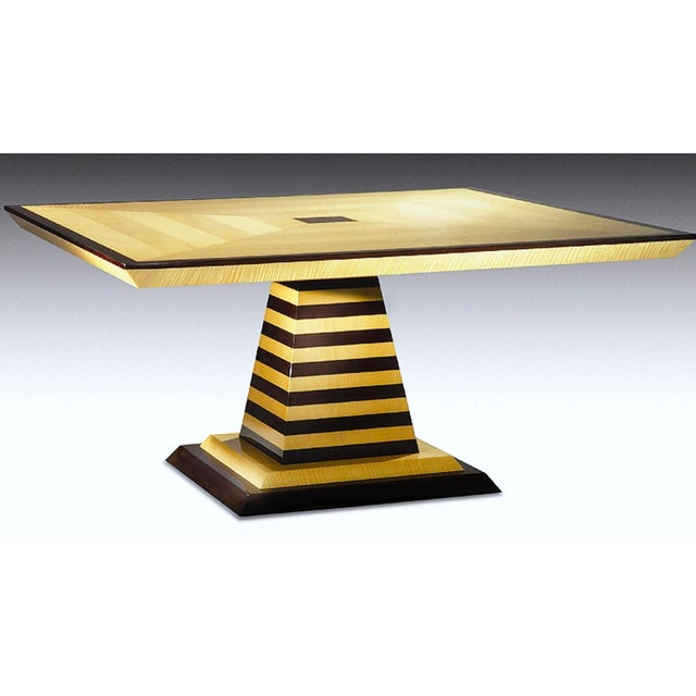 Contemporary 1980s Mid-Century Modern Brueton Industries Sycamore Square Egypt Table Dining Table For Sale - Image 3 of 7