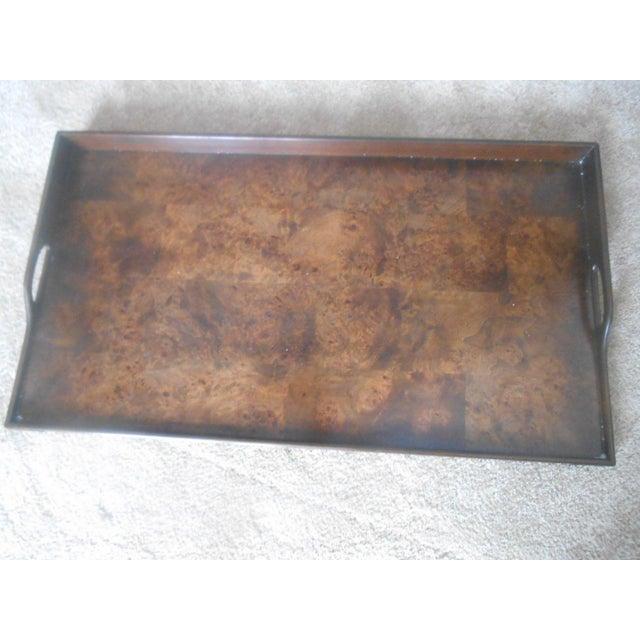 Knob Creek Burl Walnut Tea Tray Table - Image 5 of 7