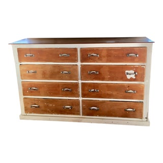 20th Century Country General Store 8 Drawer Dresser For Sale