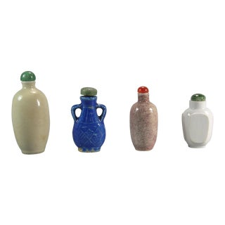 18th/19th Century Antique Chinese Porcelain Snuff Bottles - Set of 4 For Sale