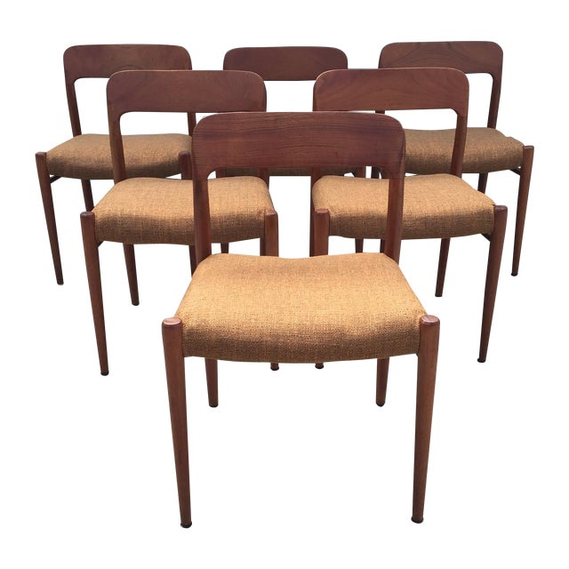 Niels Jl Moller #75 MCM Dining Chairs - Set of 6 - Image 1 of 7