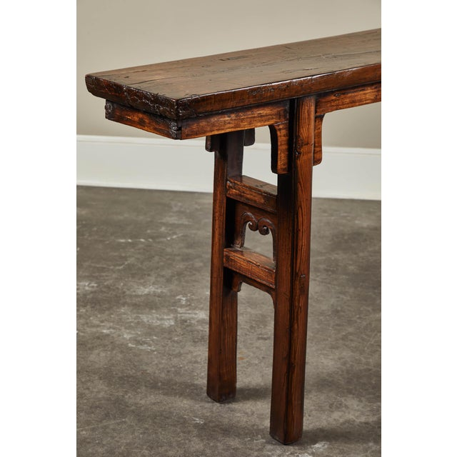 Asian 17th Century Chinese Elm and Poplar Altar Table For Sale - Image 3 of 9