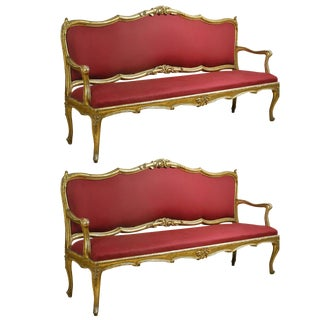 Extraordinary Louis XV Settees - A Pair For Sale