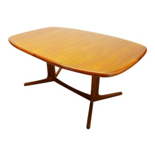 1960 Mid Century Danish Modern Dyrlund Oval Teak Dining Table